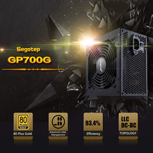 Segotep GP700G ATX 600W Power Supply PC Gaming PSU 12V Active PFC 93% Efficiency AC Input 100-240V power supply for computer