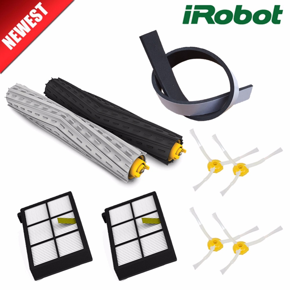 9Pcs/lot Replacement Kit irobot roomba parts brush dust hepa filter Crash bar for roomba 800 870 880 980 vacuum cleaner Robots 3pcs high quility dust hepa brush filter replacement for irobot roomba 800 900 series 870 880 980 vacuum cleaner robot parts