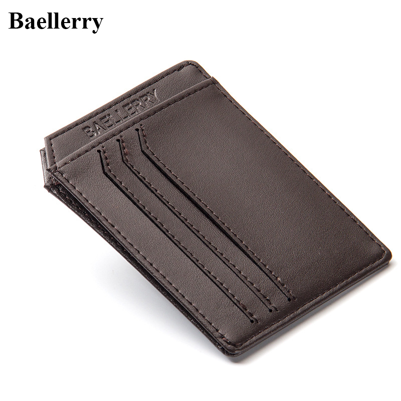 2017 Leather Card Wallets Men Purse Casual ID Holders Male Small Wallet Cash Credit Card Holder Business Card Cover Famous Brand hot yuri on ice unisex name id business card holder wallets plisetsky yuri 28 bank credit card case holders card holder purse