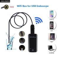 Newest 9mmWaterproof Mini USB Endoscope Inspection Camera HD 6 Led Snake Camera Endoscope USB Video Endoscope