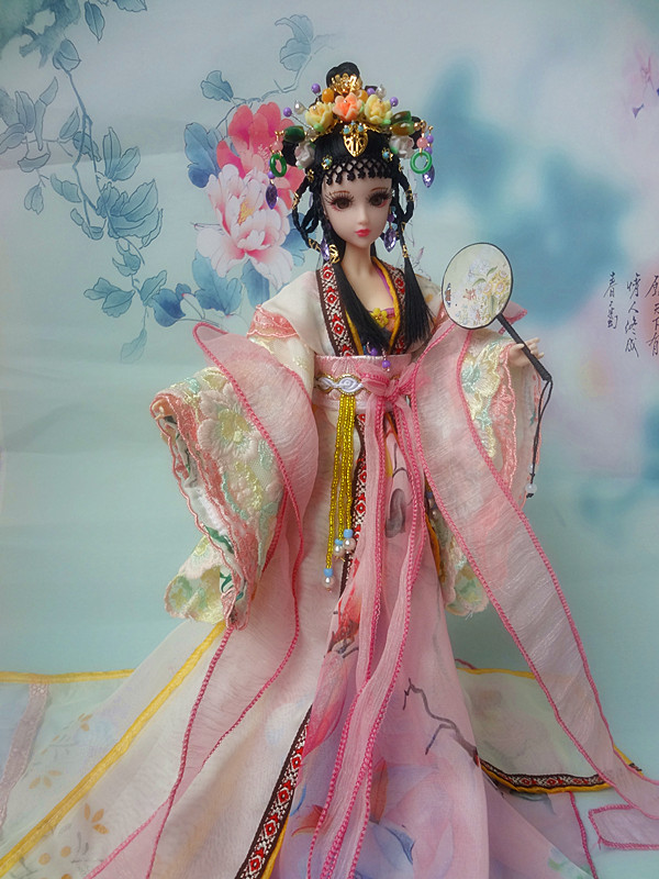 12 Chinese Princess Doll Collectible BJD Girl Dolls With Flexible Joints Body / 3D Reastic Eyes Souvenir Valentine's Day Gifts handmade ancient chinese dolls 1 6 bjd jointed doll empress zhao feiyan dolls girl toys birthday gifts