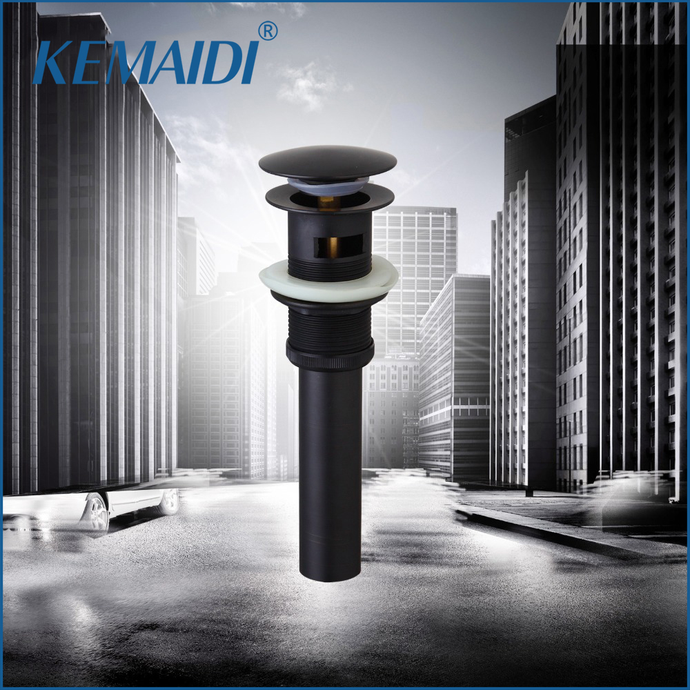 KEMAIDI Oil Rubbed Bronze Bathroom/Kitchen Sink Faucet Accessories Sink Brass With Overflow Pup Up Drain Bathroom Sets