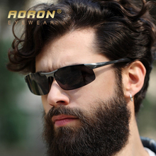 Aoron Brand Designer Aluminum Magnesium Polarized Goggles Driving Glasses Men Sunglasses Accessories Male Eyewear