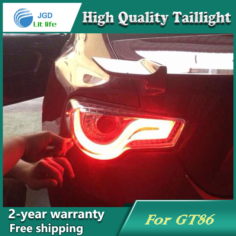 Car Styling Tail Lamp for Toyota GT86 Tail Lights LED Tail Light Rear Lamp LED DRL+Brake+Park+Signal Stop Lamp car styling tail lamp for toyota corolla led tail light 2014 2016 new altis led rear lamp led drl brake park signal stop lamp