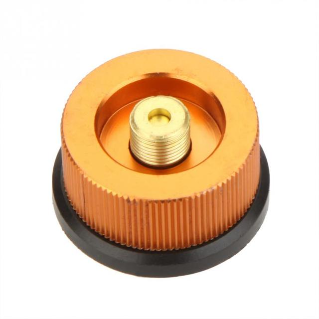 3cm Outdoor Picnic Gas Stove Split Type Furnace Adapter Auto-off Gas Cartridge Long Tank Converter Connector Camping Equipment