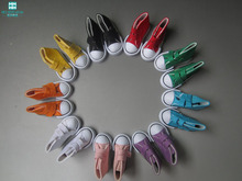 7 5cm Magic stickers canvas sneakers shoes For doll 1 3 1 4 BJD 16 Inch