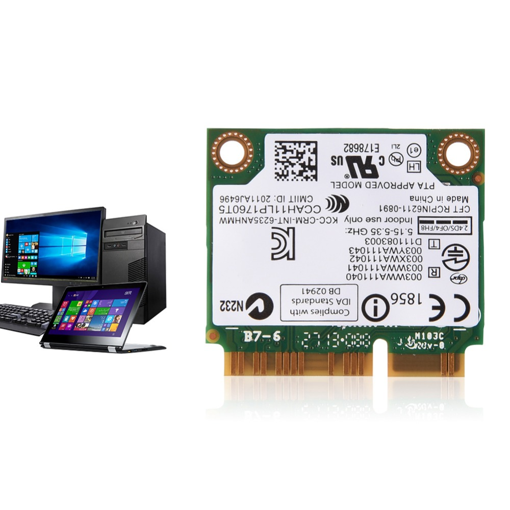 300 Мбит/с 2.4/5 г Dual-Band Mini pci-e Wi-Fi адаптер для Intel 945/965/ GM45/PM45 Wi-Fi карты ...