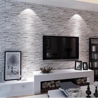 chinese retro imitatie steen baksteen patroon behang patroon mode ...