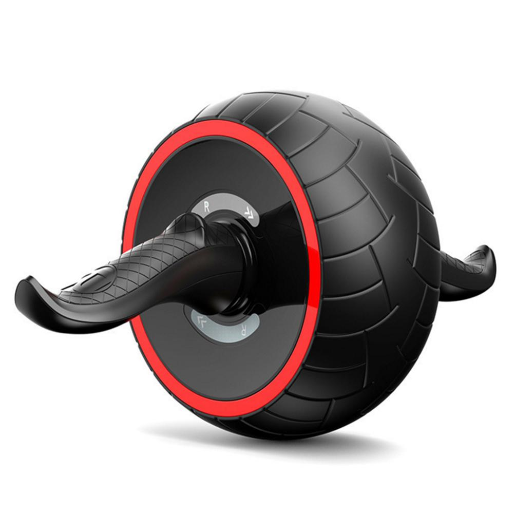 No Noise Abdominal Wheel Round AB Roller For Core Trainer Waist Arm Muscle Strength Exercise Crossfit Gym Home Fitness Equipment