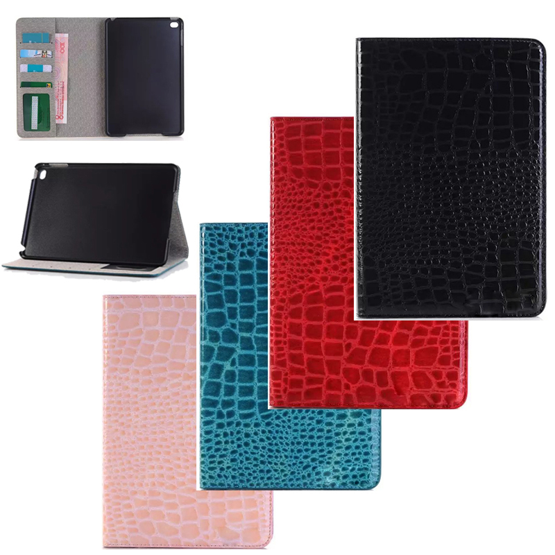 Luxury crocodile grain Leather Case for Apple iPad Air2 Tablet Accessories Fashion Smart Stand Holder Cover with slots for air 2 fashion yb for apple ipad air 2 air2 flip pu leather case cover cute tower tablet stand case with card holder for apple ipad 6
