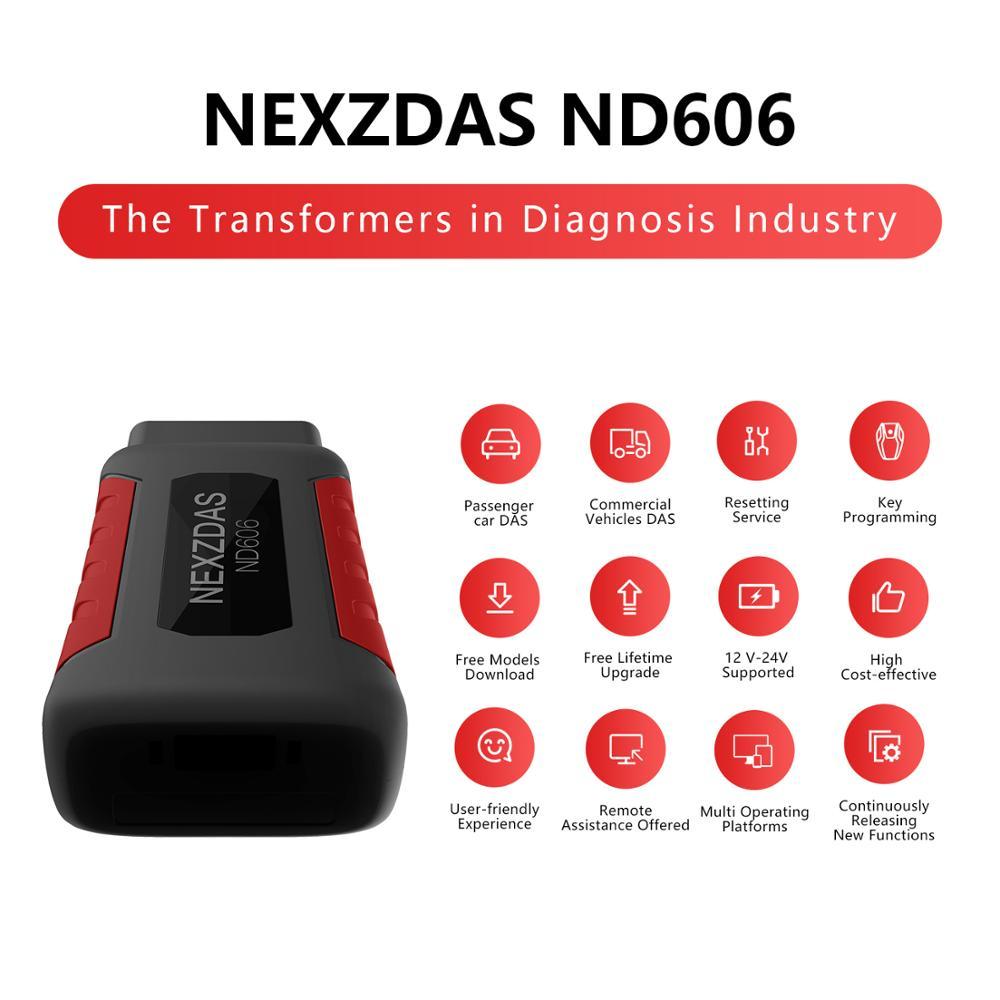 Humzor nd606 nd606 obd2 leitor de código carro diagnóstico obd2 scanner para carro de passageiros e caminhão resistente ferramenta de diagnóstico - 5