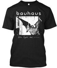 Fashion Black Cotton Crew Neck Broadcloth Short Sleeve Mens Bauhaus T Shirt bauhaus