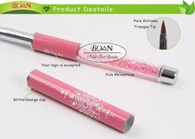 1 Piece Free Shipping BQAN Rhinestone Professional Salon Using Pure Kolinsky Nail Sculpture 3D Brush 4#