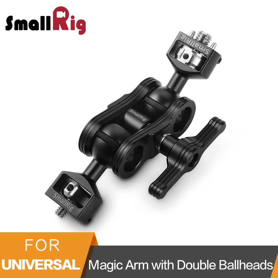 SmallRig Magic Arm With Double Ballhead Arri locating Pins and 1 4 Screw To Mount Smallrig
