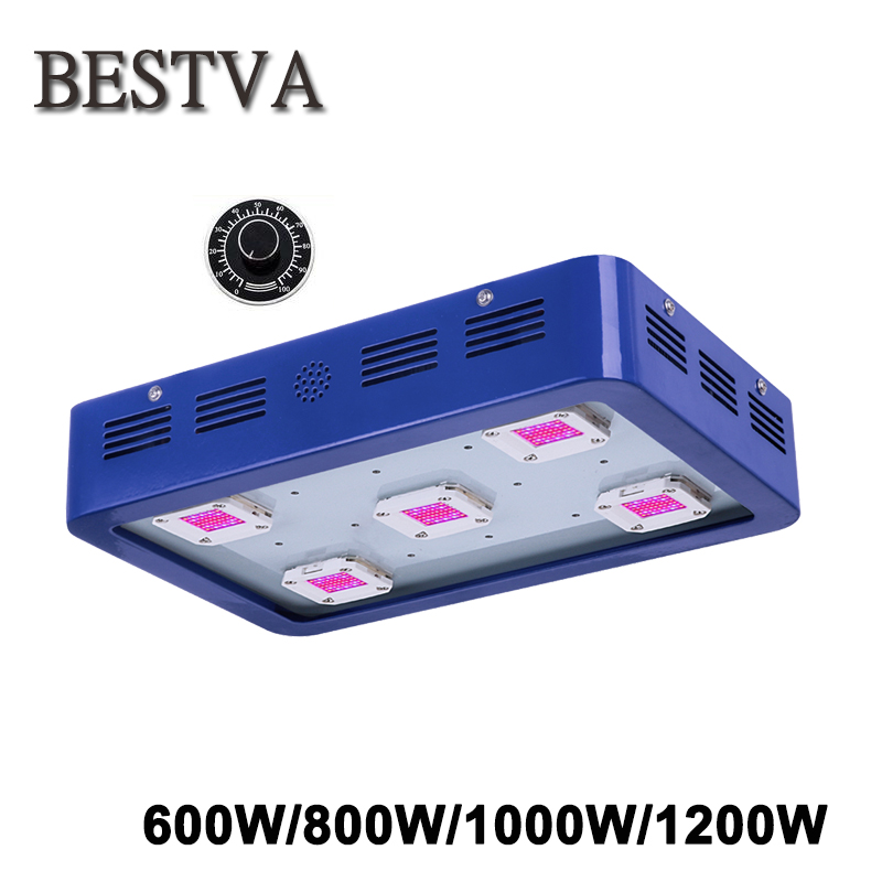 BESTVA Led Grow light dimmable 600W 800W 1000W 1200W Full Spectrum COB Chips led grow light