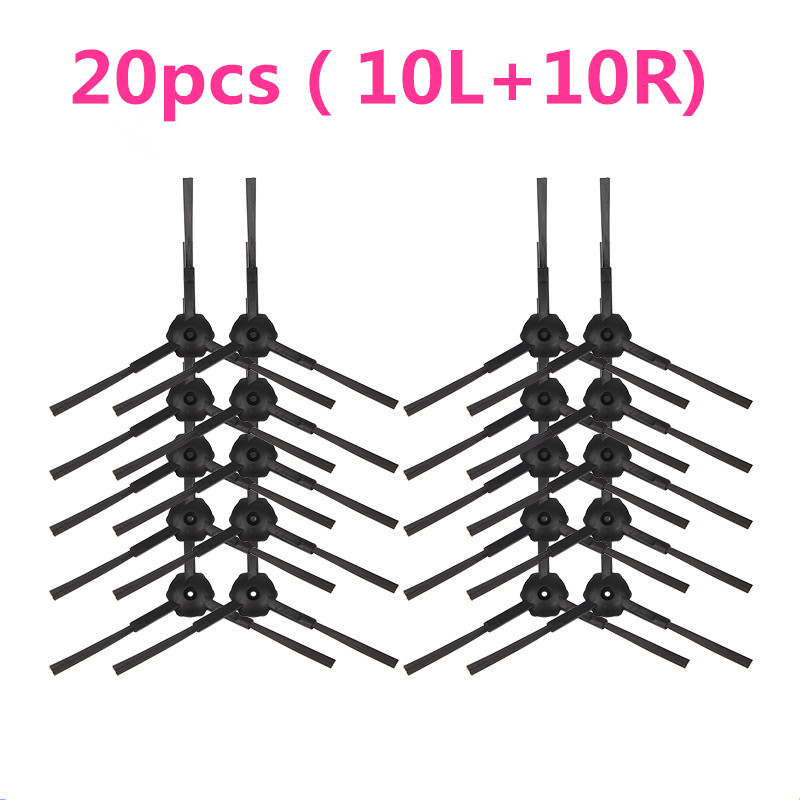 20pcs(10L+10R) Side Brush Vacuum Cleaner Accessories for Panda x500 Gutrend JOY90/FUN 110 ECOVACS CR120/CEN540 gutrend fun 110 pet