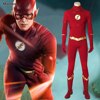 The Flash Season 5 Cosplay Barry Allen Costume Superhero Outfit Halloween Suit Adult Men Custom Full Set Outfits Made With Boots