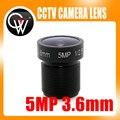 """5MP IR 3.6mm lens1/2.5 """"MTV Lente Del Tablero del CCTV cámara CCTV Lente HD M12 Mount Para 720 P/HD 1080 P Cámara IP CCTV cámara"""