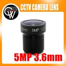 5MP IR 3.6mm lens1/2.5″ CCTV MTV Board Lens CCTV Lens HD camera M12 Mount For 720P / HD 1080P IP Camera CCTV Camera