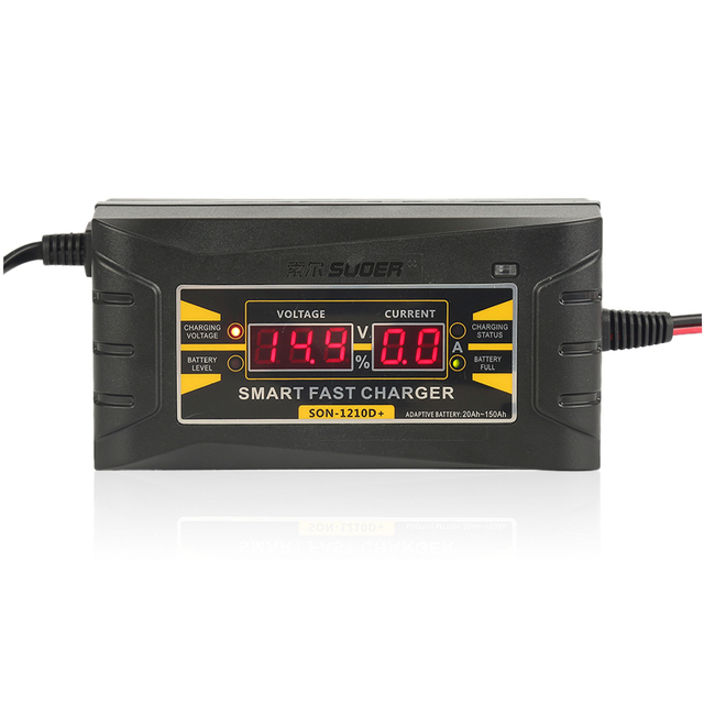 Automatic Full Smart Car Battery Charger PRO Lead Acid 12 V 10A  LCD Display US EU Plug Smart Battery Quick Charger