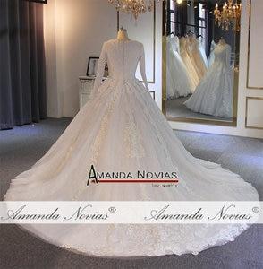 Image 5 - Robe de mariée musulmane, robe pleine perles, 2019 vraies perles, travail de haute qualité, 100%