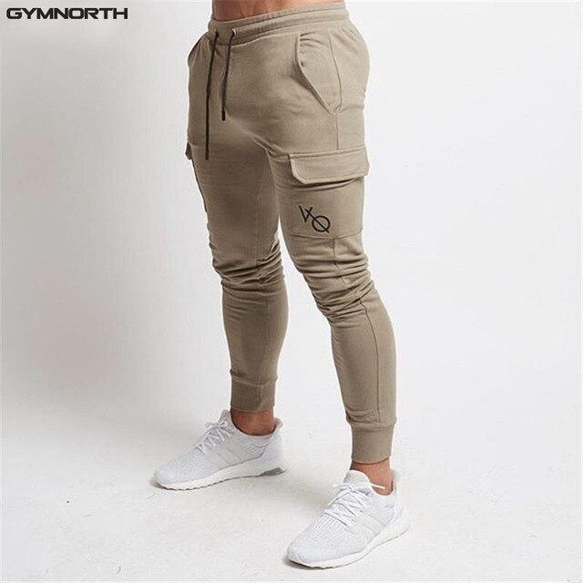 c60d31070 2018 nuevos hombres Fitness Sweatpants hombre Gyms Bodybuilding  entrenamiento grandes bolsillo pantalones ropa deportiva pantalones lápiz