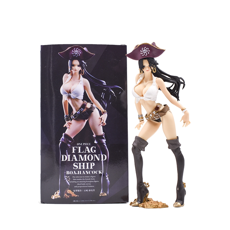 2018 New Hot One Piece <font><b>Sexy</b></font> Boa Hancock Anime <font><b>Figures</b></font> Pirates Collector Action <font><b>Figure</b></font> Toys 24cm Model Doll Christmas Gift image