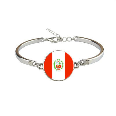 Constructive New Peru Flag Bangles Country Peru Flag Bracelets Jewellery Suitable For Men And Women Of All Ages In All Seasons