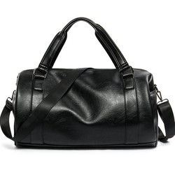 Mężczyźni torba podróżna duża pojemność torba biznesowa podróżne na bagaż wysokiej jakości torby do przechowywania rozrywka prawdziwej skórzana tote torba czarny