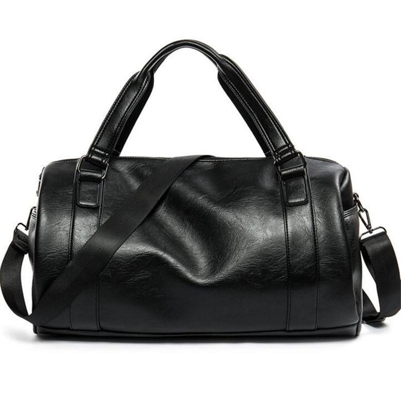 Men Travel Bag Large Capacity Business Bag Luggage High Quality Storage Bags Leisure Genuine Leather Tote Bag Black