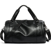 Men Travel Bag Large Capacity Business Luggage High Quality Storage Bags Leisure Genuine Leather Tote Black