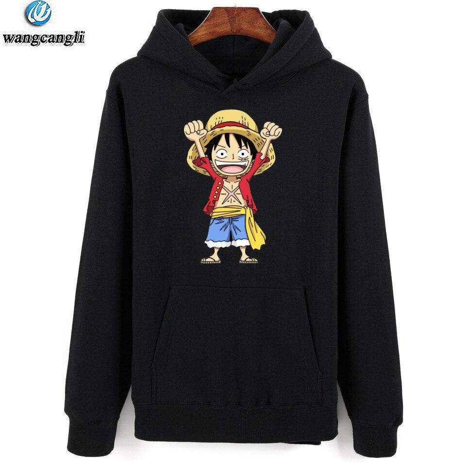 2019 Fashion One Piece Monkey D Luffy Fashion Hoodies Anime New Arrival Cotton Hoodie Sweatshirt Harajuku Hip Hop Jacket Moleton Masculino High Quality And Inexpensive Men's Clothing