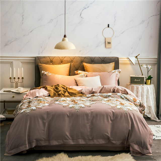 Bohemian bedding sets 4pcs Mandala duvet cover set Flat sheet Pillowcase Queen/king size bedding set egyptian cotton bed linens