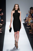 Free Shipping New 2014 Fashion Bodycon Bandage Dress Cute Grid Cut Out Sexy Open Back Women