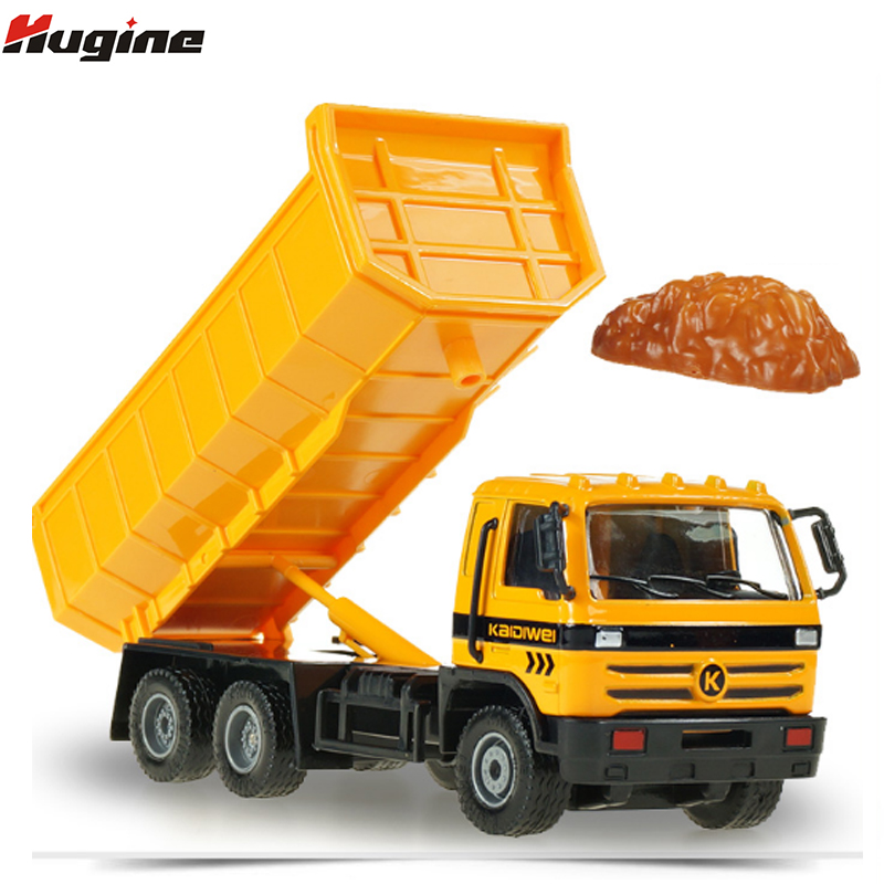 Caminhão basculante liga diecast modelo de engenharia carro crianças hobby brinquedo kdw 150 modelo simulação caminhão presentes de natal
