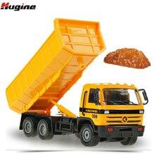 Caminhão basculante liga diecast modelo de engenharia carro crianças hobby brinquedo kdw 1:50 modelo simulação caminhão presentes de natal