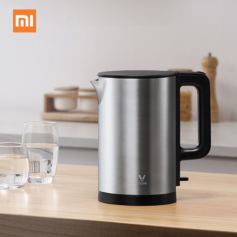 Electric Kettle 304 Stainless Steel Waterproof Drying Temperature Control Water Kettle Damp Opening