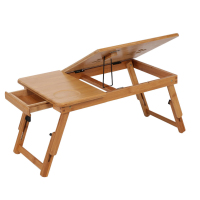 Hot Sale Mobile Laptop Desk Adjustable Notebook Computer iPad PC Stand Table Tray Bamboo