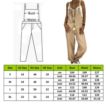 LITTHING Rompers Women Jumpsuits Cotton Linen Female Overall Dungarees Casual Harem Pants Loose Long Playsuit Jumpsuit Plus Size 1