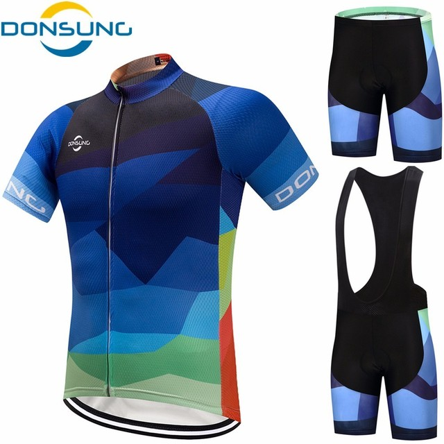 DONSUNG Cycling Jersey set Men Racing Bicycle Clothing Mans Maillot Ropa  Ciclismo 2018 Summer Quick-Dry MTB Bike Sportswear Suit 48a546967