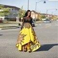 Новое прибытие Мода Женщины Большие Качели Юбки Африканских Национальных Печатных Длинные Юбки до Пят Популярный Дизайн Привет-ло юбки F0780