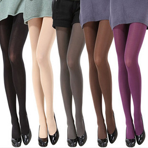 women fashion pure color 120d opaque footed tights sexy pantyhosechina mainland - Collants Opaques Colors