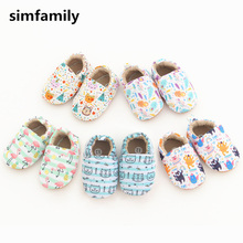 [simfamily]Baby Shoes Boys Girls Shoes Newborn Soft Infant First Walkers Shoes Cute Cartoon Printed Shoes Toddler Shoes cheap Cotton Fabric Patch All seasons Elastic band patchwork Unisex Fits true to size take your normal size Mixed Colors