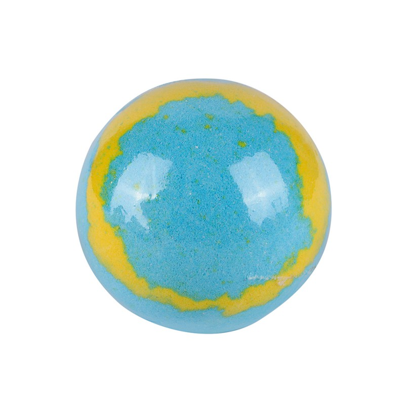 Купить с кэшбэком Lemon And Sea Moisturizing Bubble Bath Bomb Ball Essential Oil Bath SPA Stress Relief Exfoliating Bath Salt Bathing 2018 Product