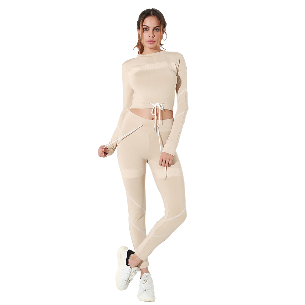 0748eef9c6b Fitness Gym Clothing Womens Khaki Workout Yoga Sets Exercise Sport Wear 2  Piece Running Clothes Gym Training Suit Sexy Clothes - aliexpress.com -  imall.com