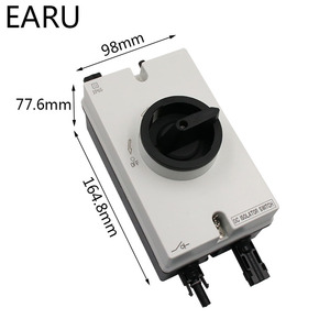 Image 2 - Free Shipping High Quality Solar System 1000VDC 32A PV DC Isolator Switch With Connector