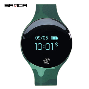 Image 5 - SANDA Bluetooth Pedometer Sport Smart Watch Soft Silicon Smart Touch Remote Camera Watches for IOS Android Reminder Waterproof