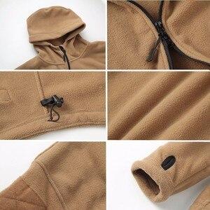 Image 5 - Winter Military Tactical Fleece Jacket Military Uniform Soft Shell Fleece Hoody Jacket Men Thermal Hoodie Coat