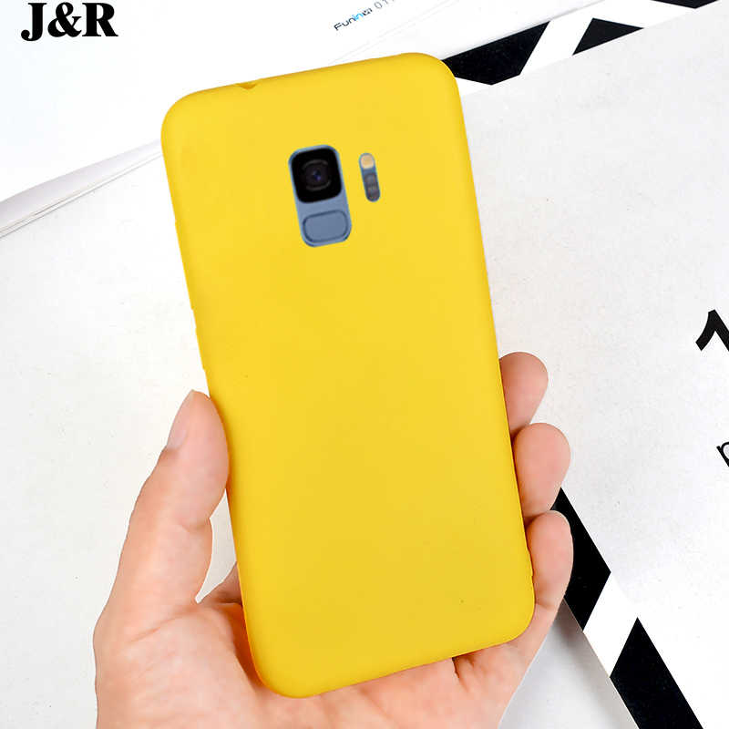 Чехлы-книжки J & R яркий силиконовый чехол для Samsung Galaxy S6 S7 край S8 S9 Plus Note 3 4 5 8 9 лимон Yelllow мягкие ТПУ чехлы для телефона