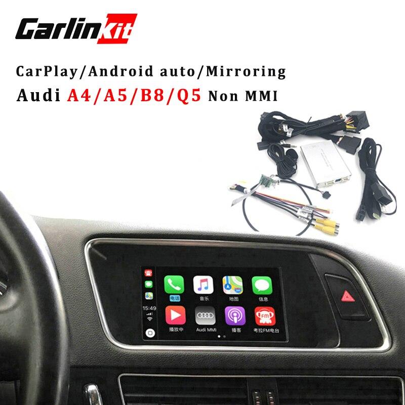 Carlinkit Vidéo Interface Avec Carplay Écran Miroir Fonctions pour A4 A5 B8 Q5 Sans MMI Avec Audi Concert Symphonique Modèle
